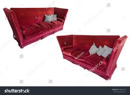 red velvet sofa isolated on white stock photo 754841302 shutterstock
