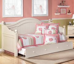 bedroom white daybeds with pop up trundle with sweet bedding and