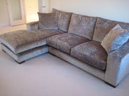 Living Room Ideas With Corner Sofa Modena Crushed Velvet Sable On This Higher Back Wider Armed