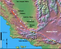 san francisco fault map quaternary geologic investigations carrizo plain ca