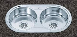 Double Round Bowls Stainless Steel Kitchen Sink  Pro Pull Out - Round sinks kitchen