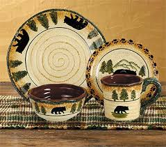 rustic casual dinnerware sets everything log homes