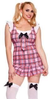 Plaid Halloween Costumes Size Costume Pink Plaid Schoolgirl Tie Knee