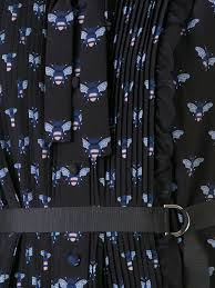 markus lupfer bumble bee print shirt dress black blak women