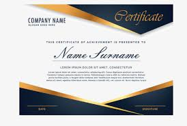 atmospheric high end gold border certificate certificate template