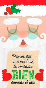 santa u0027s list spanish language money holder christmas card