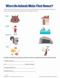 animal house match up worksheet education com