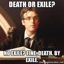 death or exile no exile fine death by exile judge scarecrow