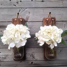Wall Sconce Set Of 2 Tennessee Wicks Handcrafted Rustic Mason Jar Wall Sconce Set Of 2