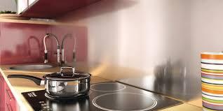 brico depot credence cuisine crédence de cuisine et fond de hotte inox et verre brico dépôt