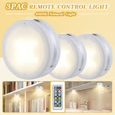 battery led lights for kitchen cabinets wireless led puck lights kitchen cabinet lighting with remote battery powered dimmable closet lights 3 pack for kitchen closet