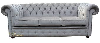Grey Leather Chesterfield Sofa Chesterfield 3 Seater Settee Perla Illusions Grey Velvet Sofa Offer