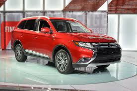 red mitsubishi outlander 2016 mitsubishi outlander adopts new design language autoguide