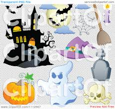 halloween ghost and haunted house background clipart halloween haunted house bats spider web pumpkin ghost