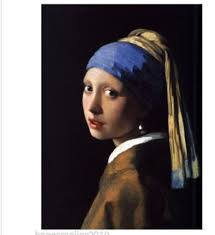 painting girl with a pearl earring painted canvas paintings picture portrait artist jan