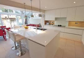 handleless white kitchen island modern kitchen london by