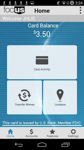 Us Bank Credit Card Designs U S Bank Focus Android Apps On Google Play