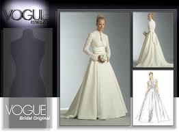 vogue wedding dress patterns vogue patterns 2979 misses misses dress and sash