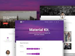 bootstrap design material kit bootstrap components to material design themequarry