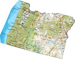 map of oregon or state map