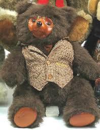 wooden faced teddy bears an original robert raikes teddy sebastian trusty