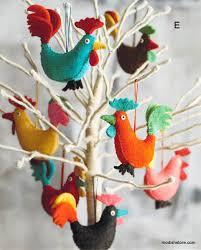roost felt festival ornaments modish store