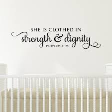 bible quote gifts talents wall quote decal strength u0026 dignity religious bible verse