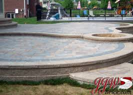 Paver Patio Designs With Fire Pit Beautiful Ideas For Paver Patios Design 2 Tier Paver Patio Design