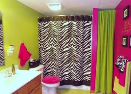 zebra bathroom ideas fuschia and green bathroom ideas with zebra printed