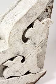 Wooden Corbels For Sale Three Matching Antique Wood Corbels With White Crackled Paint