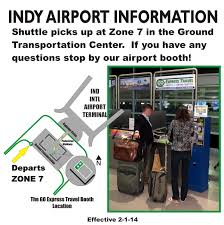Map Indy Go Express Travel Downtown Indy Express Shuttle Service