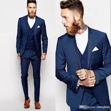 costume bleu marine mariage vente chaude bleu marine des hommes d affaires costumes 3 pièces