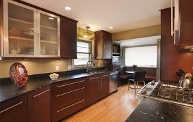 granite countertop finished kitchen cabinet doors beige glass