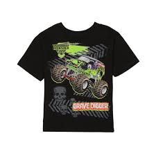 grave digger monster truck fabric nickelodeon monster jam grave digger boy u0027s graphic t shirt
