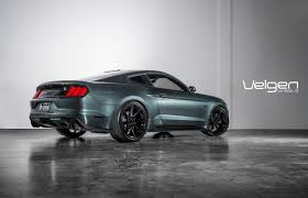Silver Mustang Black Wheels Ford Mustang Gt Guard Green Velgen Wheels Vmb8 Gloss Black