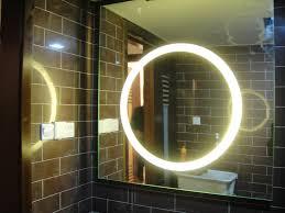 Bathroom Mirrors And Lighting Ideas Round Bathroom Mirror With Lights Creative Bathroom Decoration