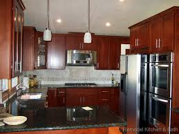 our latest kitchen remodel custom cherry cabinets uba tuba granite