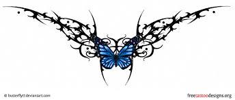 lower back butterfly tribal ideas