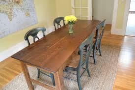 Long Narrow Dining Room Table by Farmhouse Kitchen Table Grain Wood Furniture Valerie 63inch Solid