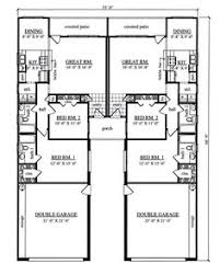 Multi Family Home Floor Plans 2 Houses Separated By Garage Nice Layout For Master Privacy