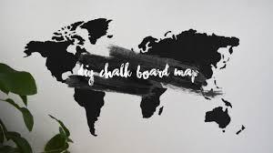 Cork World Map by Diy World Chalk Board Map Youtube