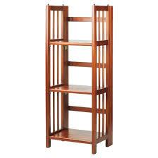 Bookcase Mahogany Folding 3 Tier Bookshelf Mahogany Casual Home Target