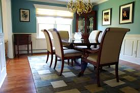 Aqua Dining Room Custom Wainscoting Dining Room Pictures Great Ideas