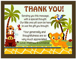 baby lion king baby shower 20 lion king baby simba baby shower thank you cards w envelopes ebay