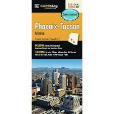 Tucson Zip Codes Map by Universal Map Phoenix Tucson Arizona Laminated Map Wayfair