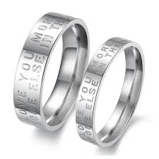 rings love images Love words plating stainless steel couple rings tangeel jpg