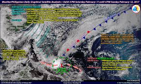 Satellite Weather Map Weatherphilippines Daily Graphical Satellite Analysis From 4pm Feb