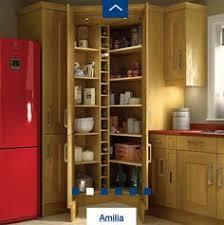 kitchen larder cabinet open wickes tiverton oak larder cupboard kitchen remodel