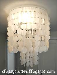 diy shell chandelier diy capiz shell chandelier for 10 clutter