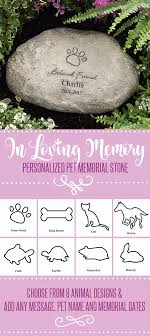 personalized memorial stones in loving memory personalized memorial pet pet memorials